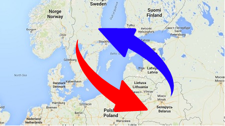 Transport from Belarus to Sweden and Sweden to Belarus. Shipping from Sweden to Belarus