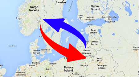 Transport from Lithuania to Norway and Norway to Lithuania. Shipping from Norway to Lithuania
