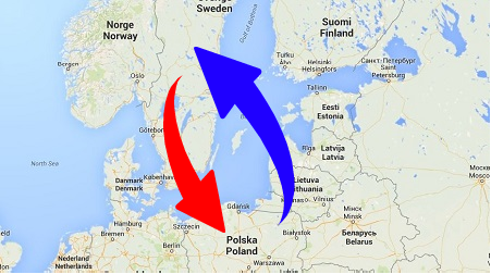 Transport from Poland to Sweden and Sweden to Poland. Shipping from Sweden to Poland