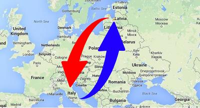 Transport Italy to Latvia and Latvia to Italy. Shipping from Italy To Latvia