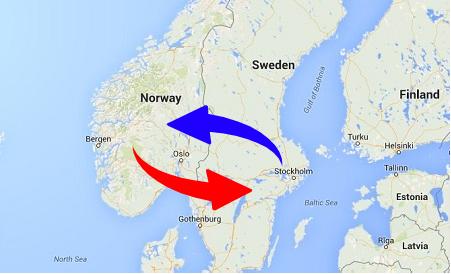 Transport från Norge till Sverige och från Sverige till Norge