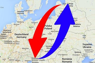 Transport Slovenia to Latvia. Shipping from Latvia to Slovenia.