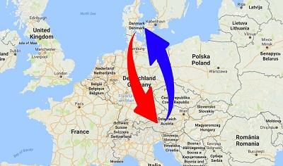 Transport Austria to Denmark. Shipping from Denmark to Austria.