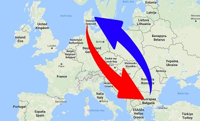 Transport Bulgaria to Denmark. Shipping from Denmark to Bulgaria.