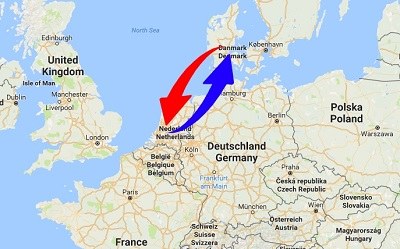 Transport Netherlands to Denmark. Shipping from Denmark to Netherlands.