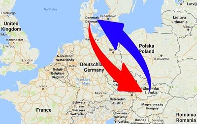 Transport Slovakia to Denmark. Shipping from Denmark to Slovakia.