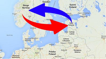 Transport från Estland till Norge och från Norge till Estland