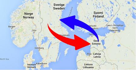 Transport från Sverige till Estland och från Estland till Sverige. Frakt från Sverige till Estland