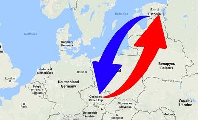Transport From Czech Republic to Estonia. Shipping from Czech Republic to Estonia.