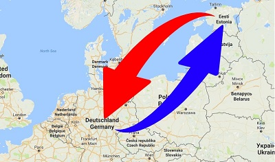 Transport From Germany to Estonia. Shipping from Germany to Estonia.