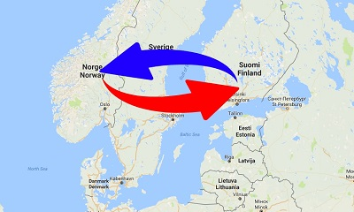 Transport Finland to Norway. Shipping from Norway to Finland.