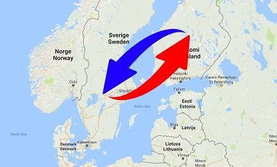 Transport Finland to Sweden. Shipping from Sweden to Finland.