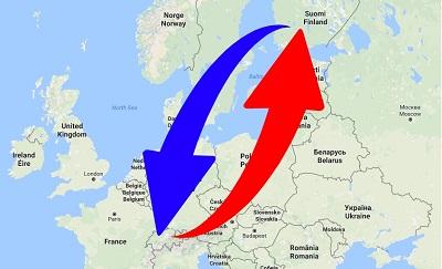 Transport Finland to Switzerland. Shipping from Switzerland to Finland.