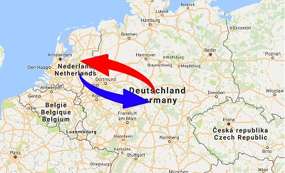 Transport Germany to Netherlands. Shipping from Netherlands to Germany.
