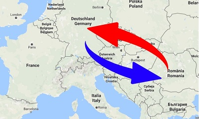 Transport Germany to Romania. Shipping from Romania to Germany.