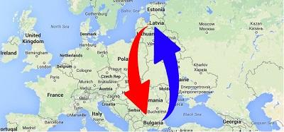 Transport Bulgaria to Latvia. Shipping from Latvia to Bulgaria.