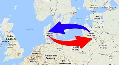 Transport Litauen til Danmark og Danmark til Litauen.