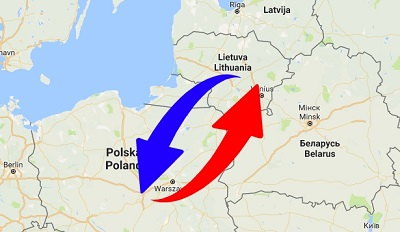 Transport From Lithuania to Poland. Shipping from Poland to Lithuania.