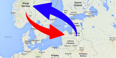 Transport från Norge till Lettland och från Lettland till Norge