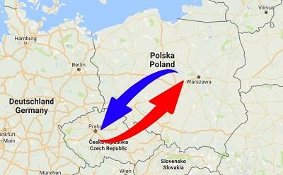 Transport Poland to Czech Republic. Shipping from Czech Republic to Poland.
