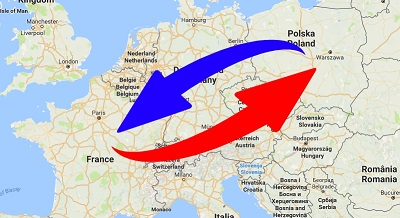 Transport Poland to France. Shipping from France to Poland.
