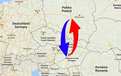 Transport Poland to Hungary. Shipping from Hungary to Poland.