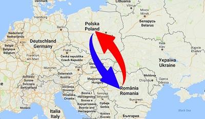 Transport Poland to Romania. Shipping from Romania to Poland.