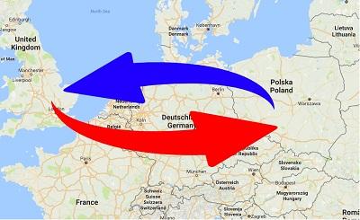 Transport Poland to United Kingdom. Shipping from UK to Poland.