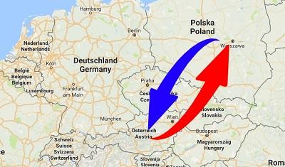 Spedition-Transport von Österreich nach Polen und von Polen nach Österreich.