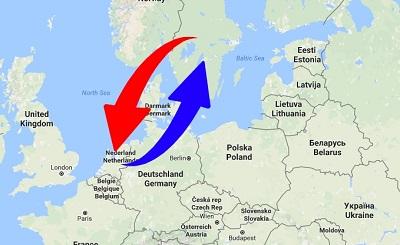 Transport Sweden to Netherlands. Shipping from Netherlands to Sweden.