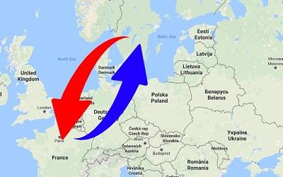 Transport från Sverige till Frankrike och från Frankrike till Sverige
