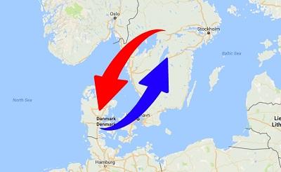 Transport från Sverige till Danmark och från Danmark till Sverige