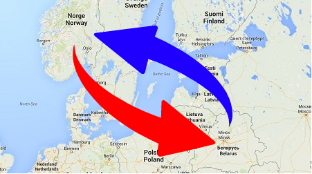 Transport from Belarus to Norway and Norway to Belarus. Shipping from Norway to Belarus