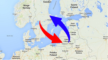 Transport from Lithuania to Sweden and Sweden to Lithuania. Shipping from Sweden to Lithuania