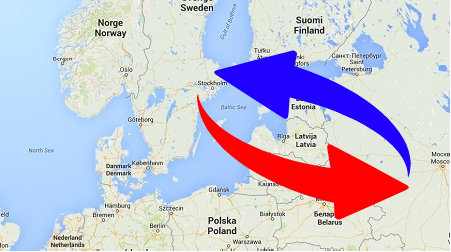 Transport Sweden To Russia Russia To Sweden Logistics Services - Sweden russia map