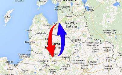 Transport från Litauen till Lettland och från Lettland till Litauen
