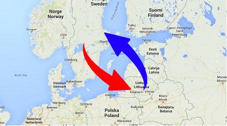 Transport från Sverige till Litauen och från Litauen till Sverige