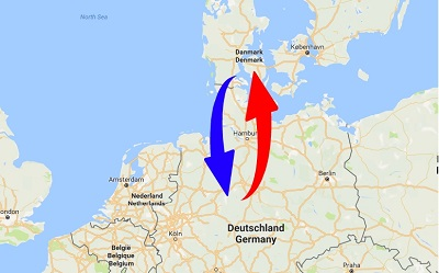 Transport Germany to Denmark. Shipping from Denmark to Germany.