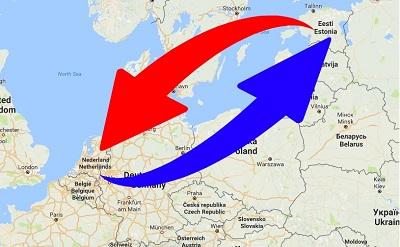 Transport Nederland naar Estland en van Estland naar Nederland.