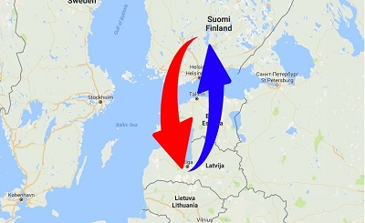 Transport From Latvia to Finland and Finland to Latvia. Shipping from Finland to Latvia