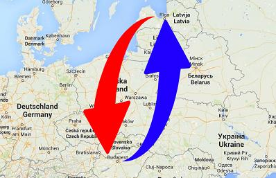 Transport Hungary to Latvia. Shipping from Latvia to Hungary.