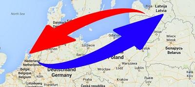 Transport Nederland naar Letland en van Letland naar Nederland.