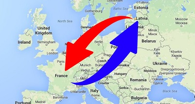 Transport de France en Lettonie et de Lettonie en France.