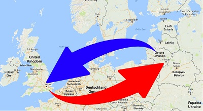 Transport From Lithuania to United Kingdom. Shipping from UK to Lithuania.