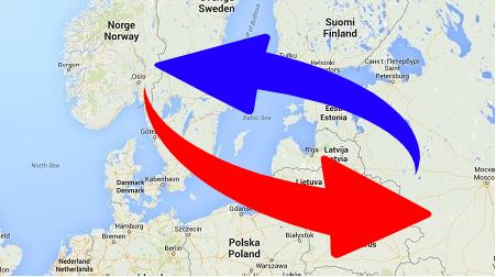 Transport från Norge till Ryssland och från Ryssland till Norge