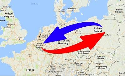 Transport Poland to Belgium. Shipping from Belgium to Poland.