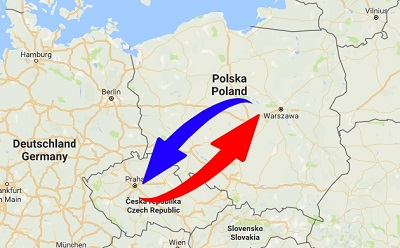 Transport Poland to Czech Republic. Shipping from Czech Republic to Poland.