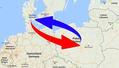 Transport Polen til Danmark og Danmark til Polen.