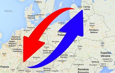 Transport-Spedition von Schweiz nach Lettland und von Lettland nach Schweiz.