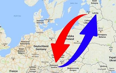 Spedition-Transport von Österreich nach Lettland und von Lettland nach Österreich.